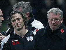 Gareth Ainsworth and Sir Alex Ferguson