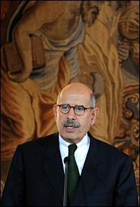 مدير عام الوكالة الدولية للطاقة الذرية محمد البرادعي