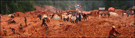 open cast mining in the DR Congo