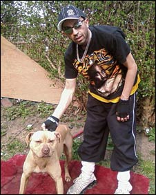 Liaquat Ali and one of his dogs