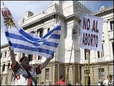 Uruguayan protestors