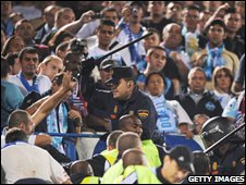 Crowd trouble