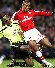 Arsenal striker Jay Simpson