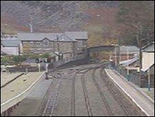 Railway line at Blaenau Ffestiniog