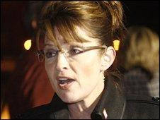 Sarah Palin after returning to Anchorage, Alaska, on 5 November 2008
