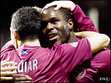 Hearts striker Christian Nade
