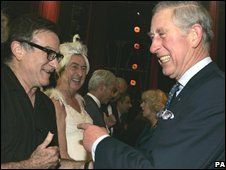 Prince Charles meets Robin Williams