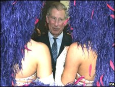 Prince Charles meets dancers backstage
