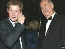 Prince Harry and John Cleese