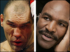 Nikolai Valuev and Evander Holyfield