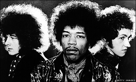 Noel Redding, Jimi Hendrix and Mitch Mitchell.