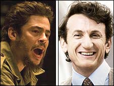 Benicio Del Toro in Che and Sean Penn in Milk