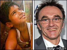 Ayush Mahesh Khedeker in Slumdog Millionaire, directed by Danny Boyle (r)