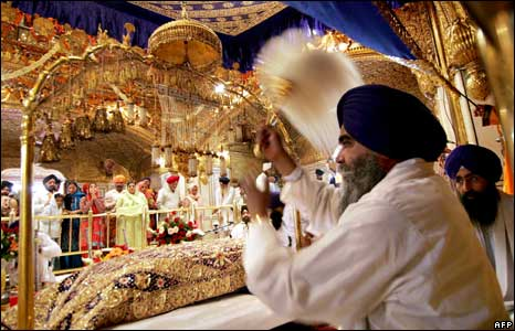 Ceremony at the Golden Temple in Amritsar, India