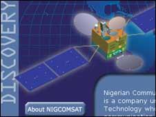 NigComSat's website