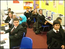 School Reporters at Brentside High School in Ealing, London
