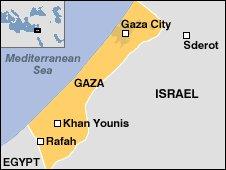 Gaza strip map