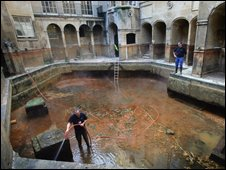 Roman Baths drained