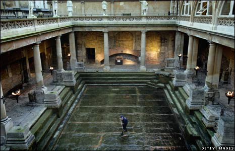 Clean-up at Bath's Roman spa
