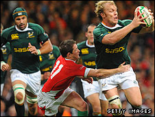 Schalk Burger in action for South Africa