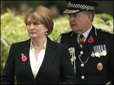 Jacqui Smith with Sir Ian Blair