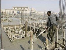 Iraqi construction worker