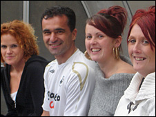 Sally Cullen, Roberto Martinez, Hayley Morgridge and Judith Thomas