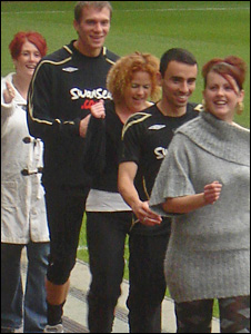 Judith Thomas, Dorus de Vries, Sally Cullen, Leon Britton and Hayley Morgridge
