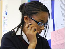 School Reporters at Heathfield School in Pinner, Middlesex
