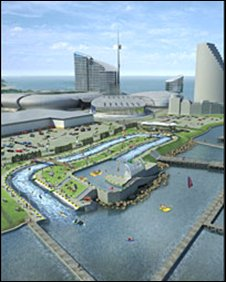Artist impression of International Sports Village