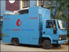 Mobile diabetes van