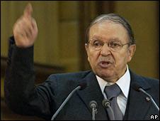 Abdelaziz Bouteflika in Algiers, 29 October 2008