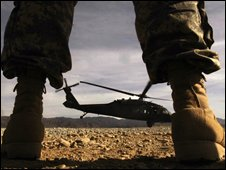 US Black Hawk helicopter in Afghanistan (file pic)