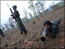 File picture of Maoist rebels in Chattisgarh