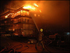 Firhill Drive fire. Picture courtesy of Lothian and Borders Fire and Rescue Service