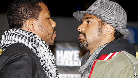 Haye (right) says he is prepared to take risks in his choice of opponents