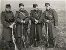 Noemi's uncle (right) with fellow Hungarian army soldiers