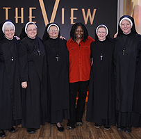 Whoopi Goldberg with nuns