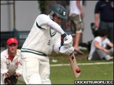 Guernsey batsman Matt Oliver