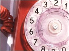 Rotary dial phone, BBC
