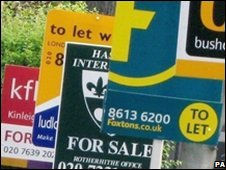 London estate agents' signs