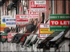 To-let signs in Birmingham