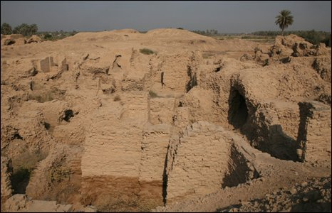 Ruins of Nebuchadnezzar II's northern palace in Babylon, Iraq (Photo by Andrew North)