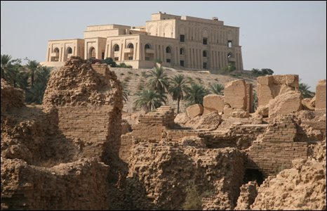 Palace built by Saddam Hussein at Babylon, Iraq (Photo by Andrew North)