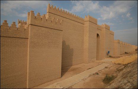 New walls at Babylon, Iraq (Photo by Andrew North)