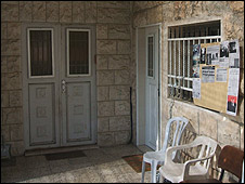 Front door of original house and extension built by Kurd family (Image: ISM)