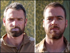 Marines Neil Dunstan (left) and Robert McKibben