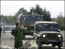 Russian forces withdraw from Georgia, October 2008