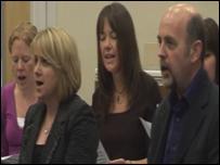 Côr Ystafell Newyddion BBC Cymru