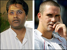 IPL chairman Lalit Modi and England skipper Kevin Pietersen